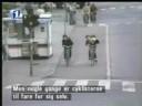 biciclist cazut in cap accident